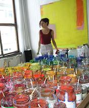 Petra Amerell in her studio